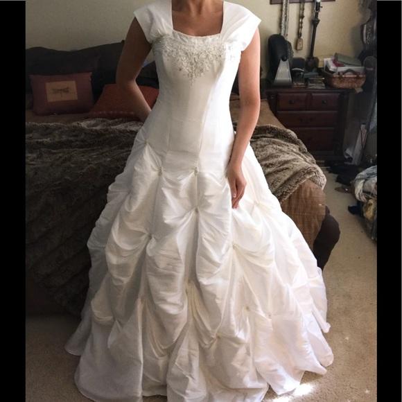 Alfred Angelo Dresses Modest Corset Lace Up Wedding Dress Poshmark